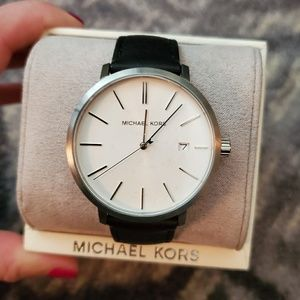 MICHAEL KORS Mens Genuine Leather Watch NWT